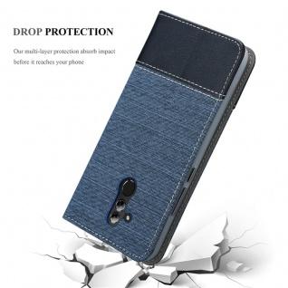 Cadorabo Hülle für Huawei MATE 20 LITE in DUNKEL BLAU SCHWARZ - Handyhülle mit Magnetverschluss, Standfunktion und Kartenfach - Case Cover Schutzhülle Etui Tasche Book Klapp Style - Vorschau 5