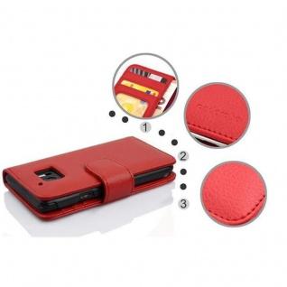 Cadorabo Hülle für HTC 10 (One M10) in INFERNO ROT ? Handyhülle mit Magnetverschluss und 3 Kartenfächern ? Case Cover Schutzhülle Etui Tasche Book Klapp Style - Vorschau 2