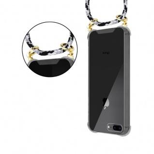 Cadorabo Handy Kette für Apple iPhone 8 PLUS / 7 PLUS / 7S PLUS in SCHWARZ CAMOUFLAGE - Silikon Necklace Umhänge Hülle mit Gold Ringen, Kordel Band Schnur und abnehmbarem Etui ? Schutzhülle - Vorschau 5