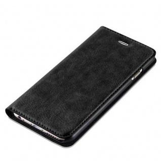 Cadorabo Hülle für Apple iPhone 6 / iPhone 6S in NACHT SCHWARZ - Handyhülle mit Magnetverschluss, Standfunktion und Kartenfach - Case Cover Schutzhülle Etui Tasche Book Klapp Style - Vorschau 4