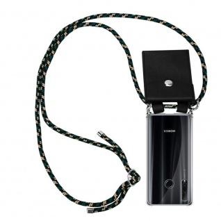 Cadorabo Handy Kette für Honor 20e in CAMOUFLAGE Silikon Necklace Umhänge Hülle mit Silber Ringen, Kordel Band Schnur und abnehmbarem Etui Schutzhülle