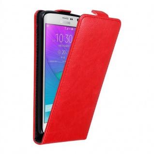 Cadorabo Hülle für Samsung Galaxy NOTE EDGE in APFEL ROT - Handyhülle im Flip Design mit unsichtbarem Magnetverschluss - Case Cover Schutzhülle Etui Tasche Book Klapp Style