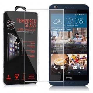 Cadorabo Panzer Folie für HTC Desire 626 - Schutzfolie in KRISTALL KLAR - Gehärtetes (Tempered) Display-Schutzglas in 9H Härte mit 3D Touch Kompatibilität