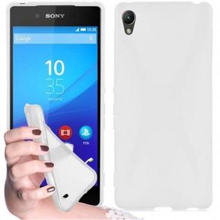 Cadorabo Hülle für Sony Xperia Z4 in HALB TRANSPARENT ? Handyhülle aus flexiblem TPU Silikon ? Silikonhülle Schutzhülle Ultra Slim Soft Back Cover Case Bumper
