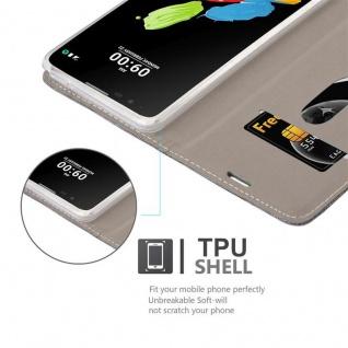 Cadorabo Hülle für LG STYLUS 2 in GRAU SCHWARZ - Handyhülle mit Magnetverschluss, Standfunktion und Kartenfach - Case Cover Schutzhülle Etui Tasche Book Klapp Style - Vorschau 2