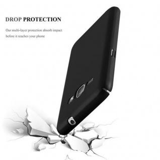 Cadorabo Hülle für Samsung Galaxy J1 2016 in METALL SCHWARZ - Hardcase Handyhülle aus Plastik gegen Kratzer und Stöße - Schutzhülle Bumper Ultra Slim Back Case Hard Cover - Vorschau 3