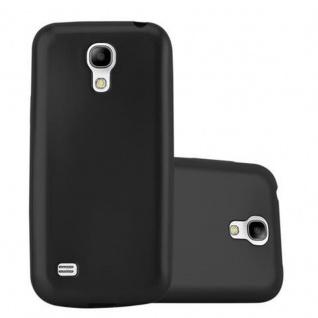 Cadorabo Hülle für Samsung Galaxy S4 in METALLIC SCHWARZ - Handyhülle aus flexiblem TPU Silikon - Silikonhülle Schutzhülle Ultra Slim Soft Back Cover Case Bumper