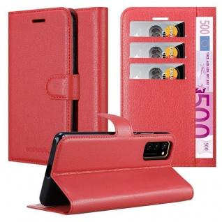 Cadorabo Hülle für Honor View 30 in KARMIN ROT Handyhülle mit Magnetverschluss, Standfunktion und Kartenfach Case Cover Schutzhülle Etui Tasche Book Klapp Style