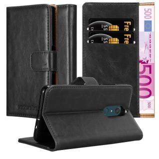 Cadorabo Hülle für WIKO VIEW XL in GRAPHIT SCHWARZ - Handyhülle mit Magnetverschluss, Standfunktion und Kartenfach - Case Cover Schutzhülle Etui Tasche Book Klapp Style