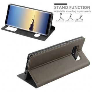 Cadorabo Hülle für Samsung Galaxy NOTE 8 in STEIN BRAUN - Handyhülle mit Magnetverschluss, Standfunktion und 2 Sichtfenstern - Case Cover Schutzhülle Etui Tasche Book Klapp Style - Vorschau 4