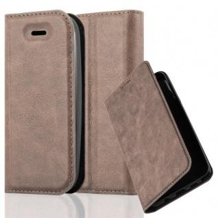 Cadorabo Hülle für Nokia 105 DUAL in KAFFEE BRAUN - Handyhülle mit Magnetverschluss, Standfunktion und Kartenfach - Case Cover Schutzhülle Etui Tasche Book Klapp Style