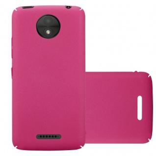 Cadorabo Hülle für Motorola MOTO C PLUS in FROSTY PINK - Hardcase Handyhülle aus Plastik gegen Kratzer und Stöße - Schutzhülle Bumper Ultra Slim Back Case Hard Cover
