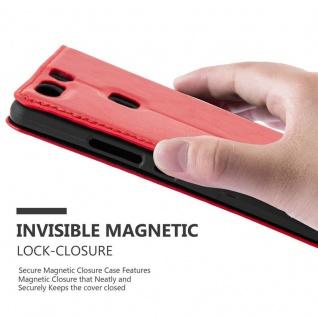 Cadorabo Hülle für Huawei P9 PLUS in APFEL ROT Handyhülle mit Magnetverschluss, Standfunktion und Kartenfach Case Cover Schutzhülle Etui Tasche Book Klapp Style - Vorschau 5