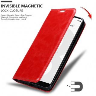 Cadorabo Hülle für Google Pixel 3 in APFEL ROT Handyhülle mit Magnetverschluss, Standfunktion und Kartenfach Case Cover Schutzhülle Etui Tasche Book Klapp Style - Vorschau 3
