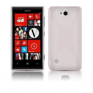 Cadorabo Hülle für Nokia Lumia 720 in HALB TRANSPARENT ? Handyhülle aus flexiblem TPU Silikon ? Silikonhülle Schutzhülle Ultra Slim Soft Back Cover Case Bumper