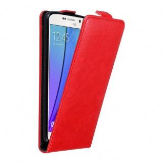 Cadorabo Hülle für Samsung Galaxy NOTE 5 in APFEL ROT Handyhülle im Flip Design mit unsichtbarem Magnetverschluss Case Cover Schutzhülle Etui Tasche Book Klapp Style