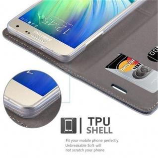 Cadorabo Hülle für Samsung Galaxy A5 2015 in DUNKEL BLAU SCHWARZ - Handyhülle mit Magnetverschluss, Standfunktion und Kartenfach - Case Cover Schutzhülle Etui Tasche Book Klapp Style - Vorschau 4