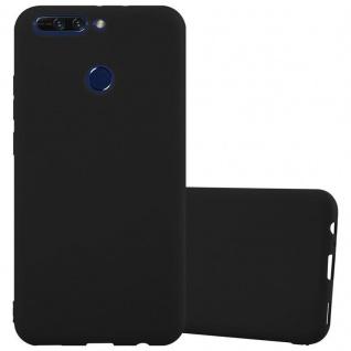 Cadorabo Hülle für Honor 8 PRO in CANDY SCHWARZ - Handyhülle aus flexiblem TPU Silikon - Silikonhülle Schutzhülle Ultra Slim Soft Back Cover Case Bumper