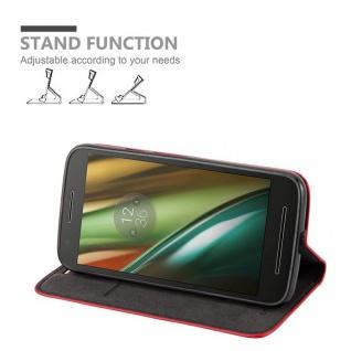 Cadorabo Hülle für Motorola MOTO E3 in APFEL ROT Handyhülle mit Magnetverschluss, Standfunktion und Kartenfach Case Cover Schutzhülle Etui Tasche Book Klapp Style - Vorschau 3