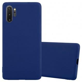 Cadorabo Hülle für Samsung Galaxy Note 10 PRO in CANDY DUNKEL BLAU Handyhülle aus flexiblem TPU Silikon Silikonhülle Schutzhülle Ultra Slim Soft Back Cover Case Bumper
