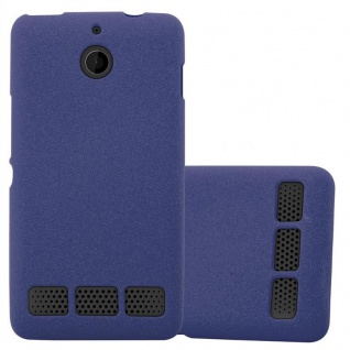 Cadorabo Hülle für Sony Xperia E1 in FROST DUNKEL BLAU - Handyhülle aus flexiblem TPU Silikon - Silikonhülle Schutzhülle Ultra Slim Soft Back Cover Case Bumper