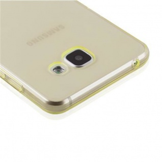 Cadorabo Hülle für Samsung Galaxy A3 2016 in TRANSPARENT GOLD - Handyhülle aus flexiblem TPU Silikon - Silikonhülle Schutzhülle Ultra Slim Soft Back Cover Case Bumper - Vorschau 5