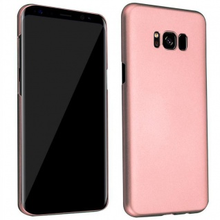 Cadorabo Hülle für Samsung Galaxy S8 PLUS in METALL ROSÉ GOLD ? Hardcase Handyhülle aus Plastik gegen Kratzer und Stöße ? Schutzhülle Bumper Ultra Slim Back Case Hard Cover