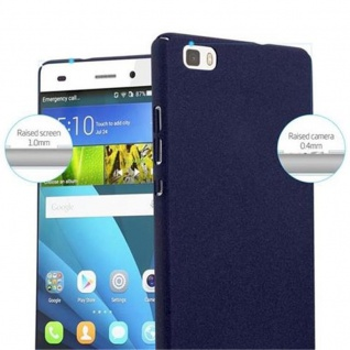 Cadorabo Hülle für Huawei P8 LITE 2015 in FROSTY BLAU - Hardcase Handyhülle aus Plastik gegen Kratzer und Stöße - Schutzhülle Bumper Ultra Slim Back Case Hard Cover - Vorschau 5