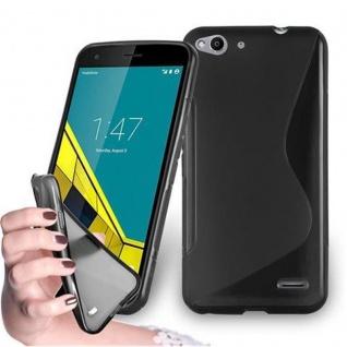 Cadorabo Hülle für Vodafone SMART ULTRA 6 - Hülle in OXID SCHWARZ ? Handyhülle aus flexiblem TPU Silikon im S-Line Design - Ultra Slim Soft Backcover Case Bumper