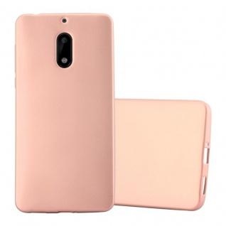 Cadorabo Hülle für Nokia 6 2017 in METALLIC ROSE GOLD - Handyhülle aus flexiblem TPU Silikon - Silikonhülle Schutzhülle Ultra Slim Soft Back Cover Case Bumper