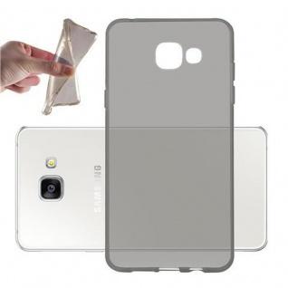 Cadorabo Hülle für Samsung Galaxy A5 2016 in TRANSPARENT SCHWARZ - Handyhülle aus flexiblem TPU Silikon - Silikonhülle Schutzhülle Ultra Slim Soft Back Cover Case Bumper