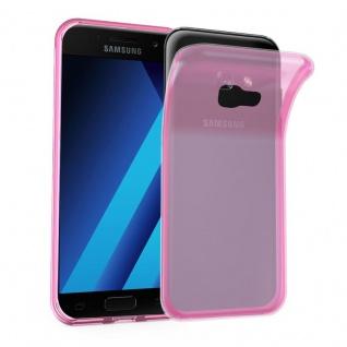 Cadorabo Hülle für Samsung Galaxy A7 2017 in TRANSPARENT PINK - Handyhülle aus flexiblem TPU Silikon - Silikonhülle Schutzhülle Ultra Slim Soft Back Cover Case Bumper