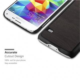 Cadorabo Hülle für Samsung Galaxy S5 / S5 NEO in WOODY SCHWARZ ? Hardcase Handyhülle aus Plastik gegen Kratzer und Stöße ? Schutzhülle Bumper Ultra Slim Back Case Hard Cover - Vorschau 3
