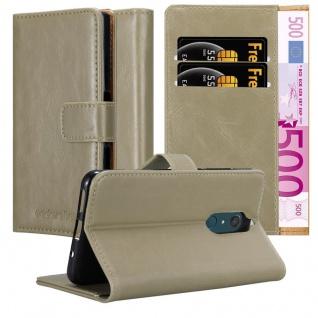 Cadorabo Hülle für WIKO VIEW XL in CAPPUCCINO BRAUN Handyhülle mit Magnetverschluss, Standfunktion und Kartenfach Case Cover Schutzhülle Etui Tasche Book Klapp Style