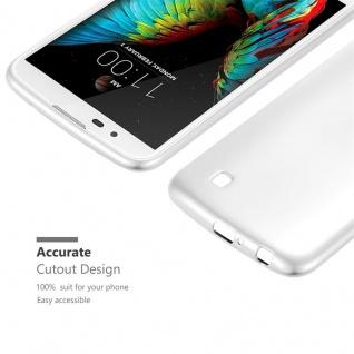 Cadorabo Hülle für LG K10 2016 in METALLIC SILBER - Handyhülle aus flexiblem TPU Silikon - Silikonhülle Schutzhülle Ultra Slim Soft Back Cover Case Bumper - Vorschau 5