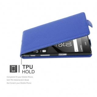 Cadorabo Hülle für Sony Xperia Z5 in KÖNIGS BLAU - Handyhülle im Flip Design aus strukturiertem Kunstleder - Case Cover Schutzhülle Etui Tasche Book Klapp Style - Vorschau 2