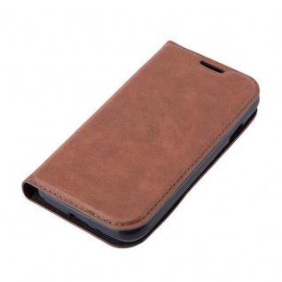 Cadorabo Hülle für Samsung Galaxy TREND LITE in CAPPUCCINO BRAUN - Handyhülle mit Magnetverschluss, Standfunktion und Kartenfach - Case Cover Schutzhülle Etui Tasche Book Klapp Style - Vorschau 4