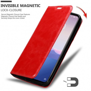 Cadorabo Hülle für MEIZU 16Xs in APFEL ROT - Handyhülle mit Magnetverschluss, Standfunktion und Kartenfach - Case Cover Schutzhülle Etui Tasche Book Klapp Style - Vorschau 5