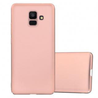 Cadorabo Hülle für Samsung Galaxy A6 2018 in METALL ROSÉ GOLD - Hardcase Handyhülle aus Plastik gegen Kratzer und Stöße - Schutzhülle Bumper Ultra Slim Back Case Hard Cover