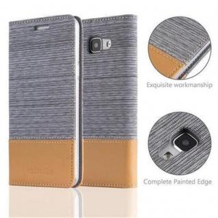 Cadorabo Hülle für Samsung Galaxy A5 2016 in HELL GRAU BRAUN - Handyhülle mit Magnetverschluss, Standfunktion und Kartenfach - Case Cover Schutzhülle Etui Tasche Book Klapp Style - Vorschau 2