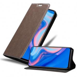 Cadorabo Hülle für Huawei P SMART Z in KAFFEE BRAUN Handyhülle mit Magnetverschluss, Standfunktion und Kartenfach Case Cover Schutzhülle Etui Tasche Book Klapp Style