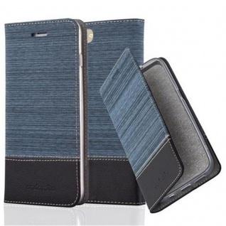 Cadorabo Hülle für Apple iPhone 8 PLUS / 7 PLUS / 7S PLUS in DUNKEL BLAU SCHWARZ - Handyhülle mit Magnetverschluss, Standfunktion und Kartenfach - Case Cover Schutzhülle Etui Tasche Book Klapp Style