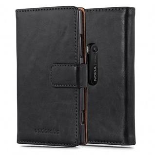 Cadorabo Hülle für Nokia Lumia 920 in GRAPHIT SCHWARZ ? Handyhülle mit Magnetverschluss, Standfunktion und Kartenfach ? Case Cover Schutzhülle Etui Tasche Book Klapp Style