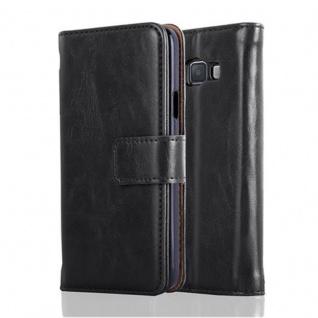 Cadorabo Hülle für Samsung Galaxy A3 2015 in GRAPHIT SCHWARZ - Handyhülle mit Magnetverschluss, Standfunktion und Kartenfach - Case Cover Schutzhülle Etui Tasche Book Klapp Style - Vorschau 2