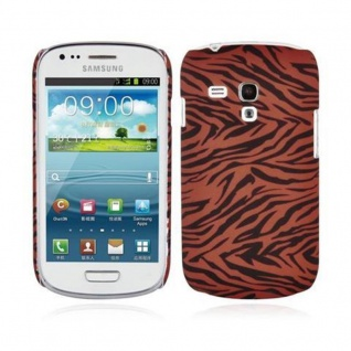 Cadorabo - Hard Cover für Samsung Galaxy S3 MINI - Case Cover Schutzhülle Bumper im Design: BROWN TIGER