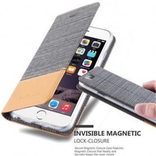 Cadorabo Hülle für Apple iPhone 6 / iPhone 6S in HELL GRAU BRAUN - Handyhülle mit Magnetverschluss, Standfunktion und Kartenfach - Case Cover Schutzhülle Etui Tasche Book Klapp Style