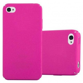Cadorabo Hülle für Apple iPhone 4 / iPhone 4S in FROSTY PINK - Hardcase Handyhülle aus Plastik gegen Kratzer und Stöße - Schutzhülle Bumper Ultra Slim Back Case Hard Cover