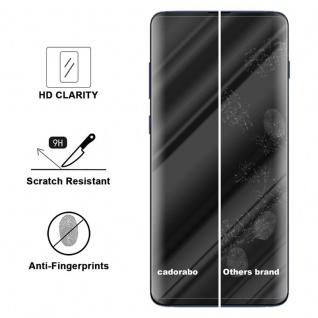 Cadorabo Vollbild Panzer Folie für Samsung Galaxy S10 - Schutzfolie in TRANSPARENT mit SCHWARZ - Gehärtetes (Tempered) Display-Schutzglas in 9H Härte mit 3D Touch Kompatibilität - Vorschau 3