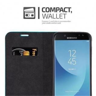Cadorabo Hülle für Samsung Galaxy J5 2017 in PETROL TÜRKIS - Handyhülle mit Magnetverschluss, Standfunktion und Kartenfach - Case Cover Schutzhülle Etui Tasche Book Klapp Style - Vorschau 5