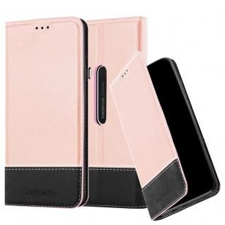 Cadorabo Hülle für Nokia Lumia 920 in ROSÉ GOLD SCHWARZ ? Handyhülle mit Magnetverschluss, Standfunktion und Kartenfach ? Case Cover Schutzhülle Etui Tasche Book Klapp Style